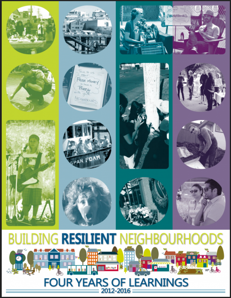 Cover of building resilient neighbourhoods four years of learnings PDF