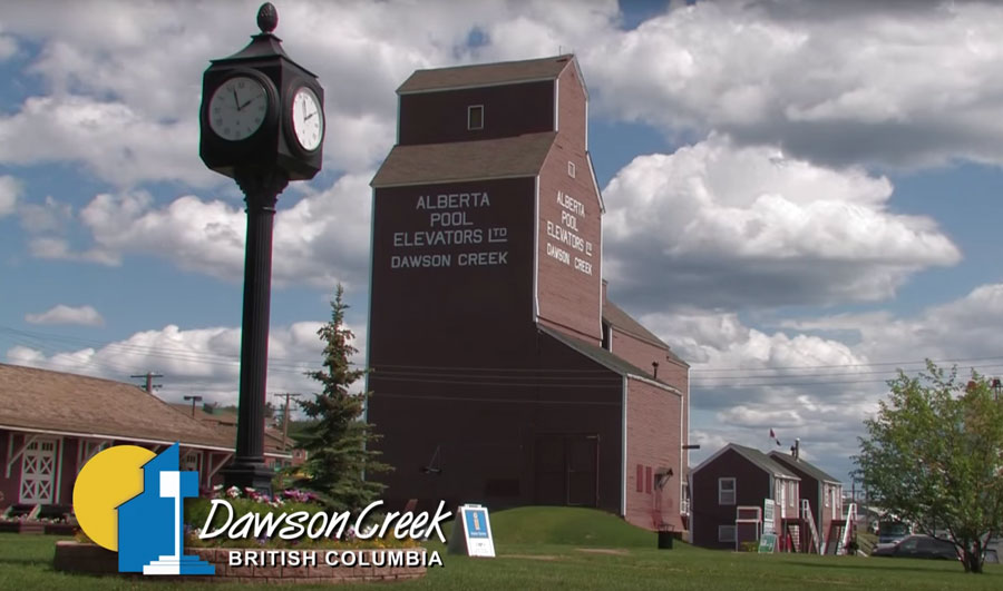The Dawson Creek museum rests at the foot of the grainery.
