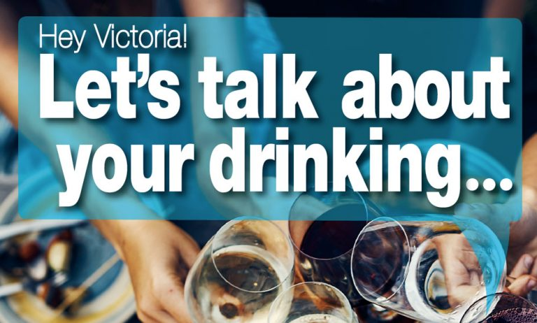 "People cheersing their glasses of wine: ""Let's talk about your drinking"""