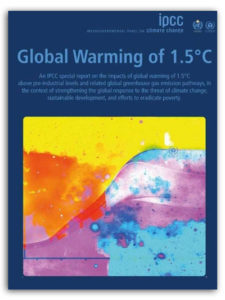 IPCC 2018 report cover.