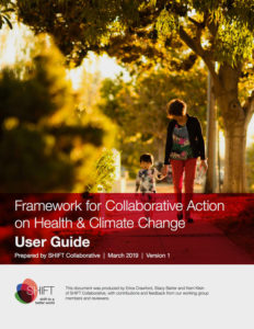 Framework for Collaborative Action on Health & Climate Change, cover
