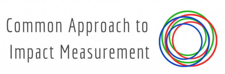 Common Approach to Impact Measurement logo.