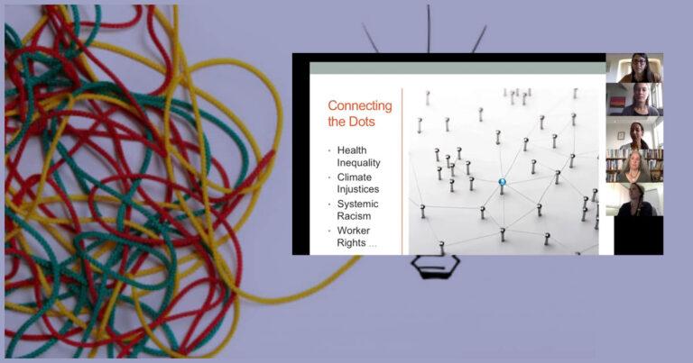Yarn building ideas, webinar screenshot.