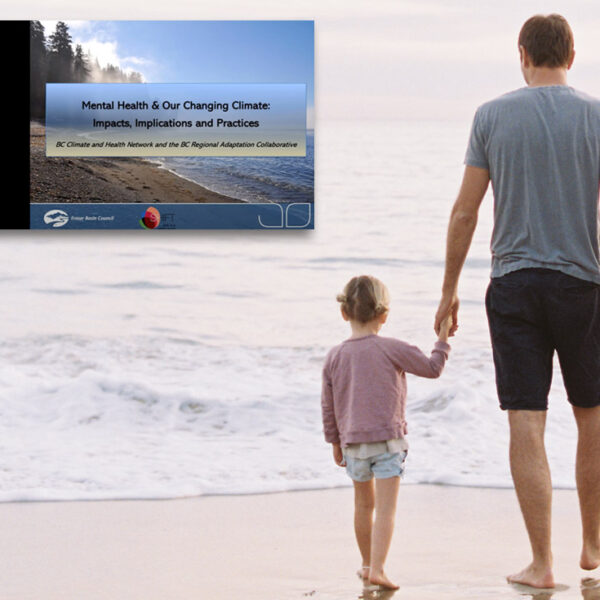 Mental Health Webinar with a family in the background walking on the beach staring into the ocean.