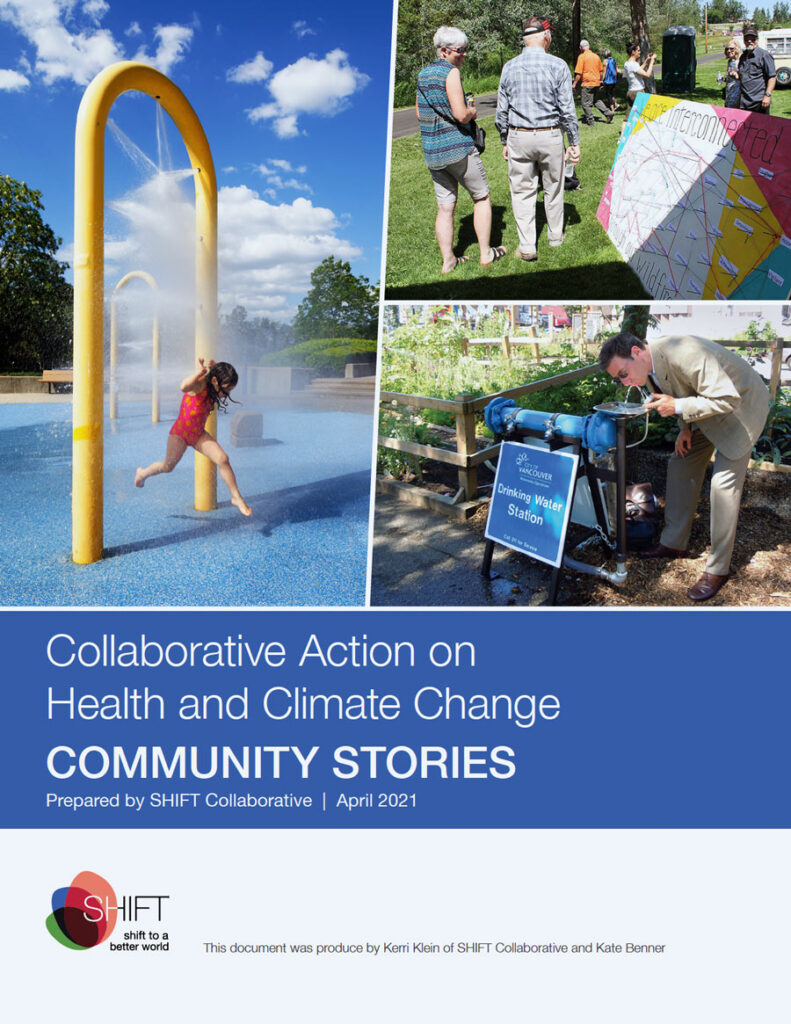 Report cover: Collaboration action on health and Climate Change.